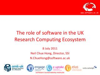 The role of software in the UK Research Computing Ecosystem