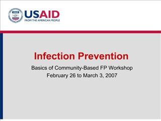 basics of community-based fp workshop february 26 to march 3, 2007