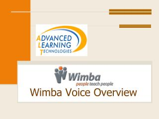 Wimba Voice Overview