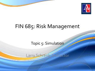 FIN 685: Risk Management
