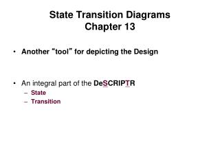 State Transition  Diagrams Chapter 13