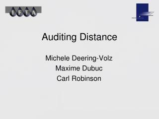 Auditing Distance