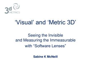 'Visual' and 'Metric 3D'