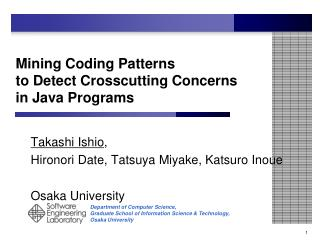 Mining Coding Patterns  to Detect Crosscutting Concerns in Java Programs