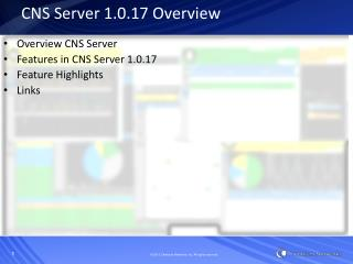 CNS Server 1.0.17 Overview