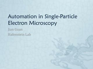 Automation in Single-Particle Electron Microscopy