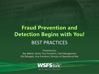 Fraud Prevention and Detection Begins with You!