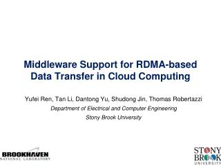 Middleware Support for RDMA-based Data Transfer in Cloud Computing