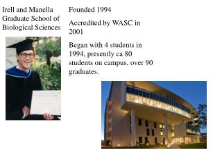 Founded 1994 Accredited by WASC in  2001 Began with 4 students in 1994, presently ca 80 students on campus, over  90  g