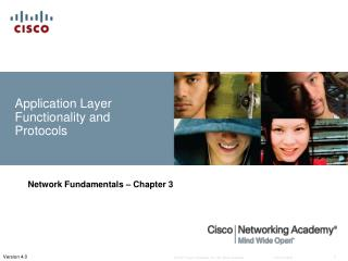 Application Layer Functionality and Protocols