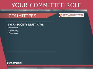 YOUR COMMITTEE ROLE