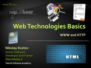 Web Technologies Basics