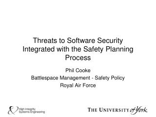 Threats to Software Security Integrated with the Safety Planning Process