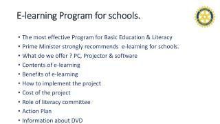 E-learning Program for schools.
