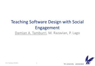 Teaching Software Design with Social Engagement