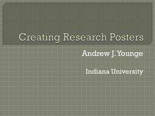 Creating Research Posters
