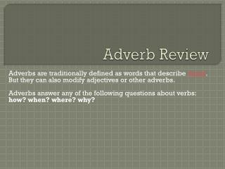 Adverb Review