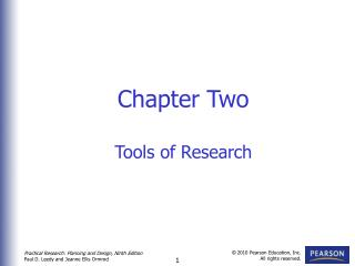 Chapter Two Tools of Research