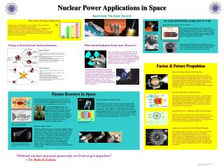Nuclear Power Applications in Space