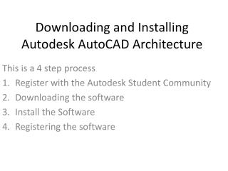 Downloading and Installing Autodesk AutoCAD Architecture
