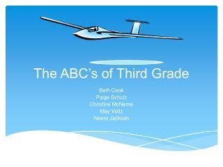 The ABC's of Third Grade