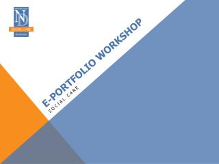 E-portfolio Workshop