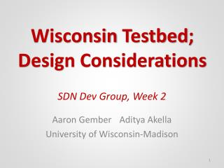 SDN Dev Group, Week 2