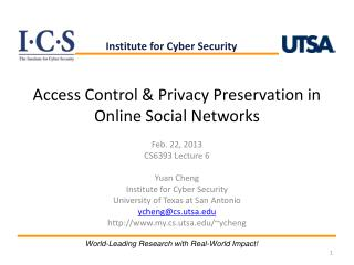Access Control & Privacy Preservation in Online Social Networks