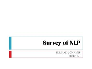 Survey of NLP