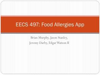 EECS 497: Food Allergies App
