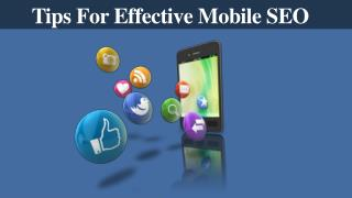 Tips For Effective Mobile SEO