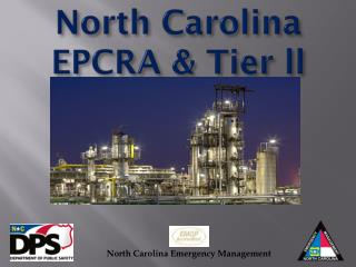 North Carolina EPCRA & Tier ll