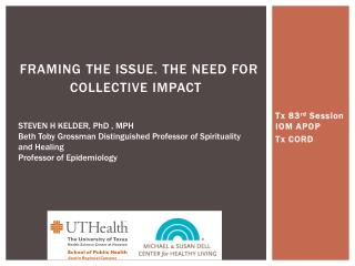 Framing the Issue. THE Need for collective Impact