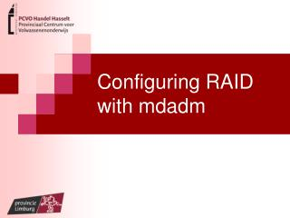 Configuring RAID with mdadm