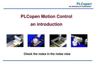 PLCopen Motion Control       an introduction
