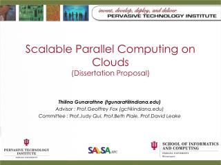 Scalable Parallel Computing on Clouds (Dissertation Proposal)