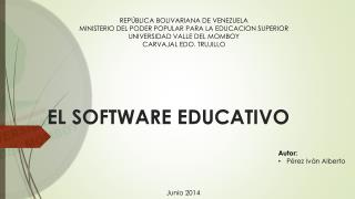 EL SOFTWARE EDUCATIVO