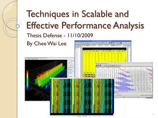 Techniques in Scalable and Effective Performance Analysis