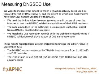 Measuring DNSSEC Use