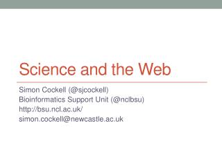 Science and the Web