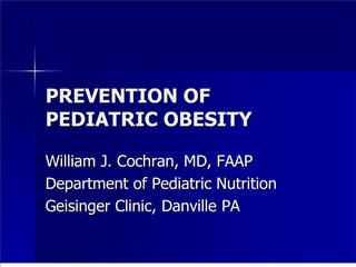 prevention of pediatric obesity