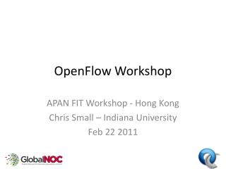 OpenFlow  Workshop