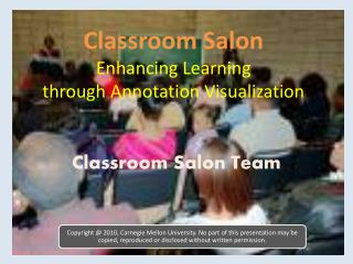 Classroom  Salon Enhancing Learning through Annotation Visualization