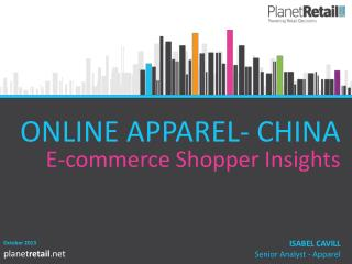 ONLINE APPAREL- CHINA