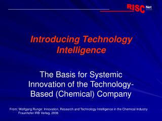 Introducing Technology Intelligence