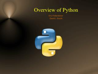 Overview of Python