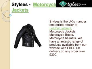 Stylees - Motorcycle Leather Jackets