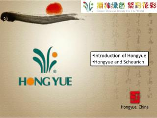 Introduction of Hongyue Hongyue and Scheurich
