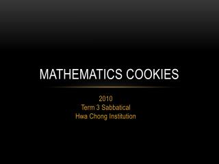 Mathematics Cookies