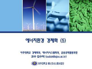 에너지환경 경제학  (5)